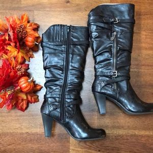Guess Heeled Boots Black New